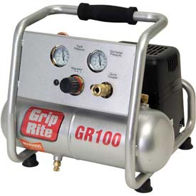 Grip-Rite GR100,  Portable Air Compressor GR100, Hand Carry, 110V, 1HP, 1 Gal