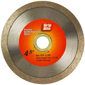 "Grip-Rite Premium Tile Diamond Saw Blade 4.5"" Dia. 7mm Rim Package Count 5 by"