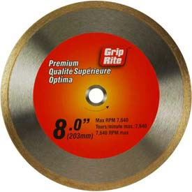 "Grip-Rite Premium Tile Diamond Saw Blade 8"" Dia. 7mm Rim Package Count 5 by"