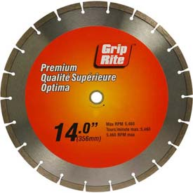 "Grip-Rite Premium Segmented Diamond Saw Blade 14"" Dia. 10mm Rim by"