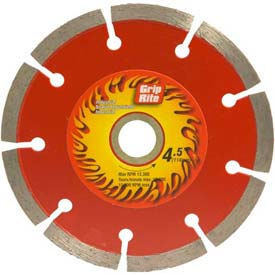 "Grip-Rite Industrial Segmented Diamond Saw Blade 4.5"" Dia. 7mm Rim Package Count 5 by"