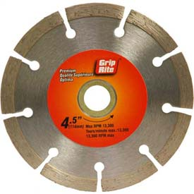 "Grip-Rite Premium Segmented Diamond Saw Blade 4.5"" Dia. 7mm Rim Package Count 5 by"
