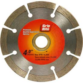 "Grip-Rite Premium Segmented Diamond Saw Blade 4"" Dia. 7mm Rim Package Count 5 by"