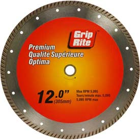 "Grip-Rite Premium Turbo Diamond Saw Blade 12"" Dia. 10mm Rim by"
