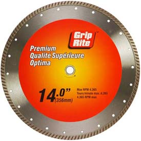 "Grip-Rite Premium Turbo Diamond Saw Blade 14"" Dia. 10mm Rim by"