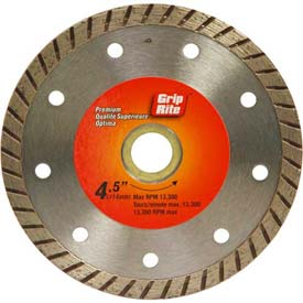 "Grip-Rite Premium Turbo Diamond Saw Blade 4.5"" Dia. 7mm Rim Package Count 5 by"