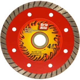 "Grip-Rite Industrial Turbo Diamond Saw Blade 4"" Dia. 7mm Rim Package Count 5 by"
