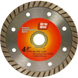 "Grip-Rite Premium Turbo Diamond Saw Blade 4"" Dia. 7mm Rim Package Count 5 by"