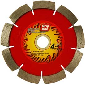 "Grip-Rite Industrial Tuck Point Diamond Saw Blade 4.5"" Dia. 10mm Rim Package Count 5 by"
