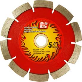 "Grip-Rite Industrial Tuck Point Diamond Saw Blade 4"" Dia. 10mm Rim Package Count 5 by"