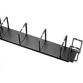 "Hoffman ECK19HV Cable Organizer, V/H feeds, Fits 19"" rack, Steel/Black by"