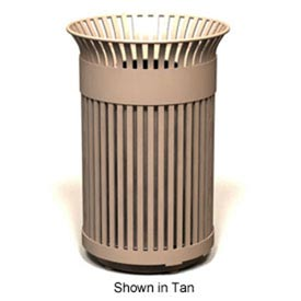 Avenue Series 40 Gal. Metal Waste Receptacle - Bronze