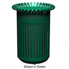 English Series 32 Gal. Metal Waste Receptacle - Bronze