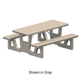 "72"" Rectangular Concrete Table - Tan"