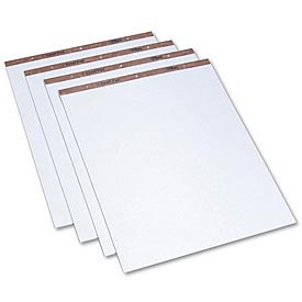 Drilled Easel Pads, 27 x 34, Plain White Bond, 50 Sheets/Pad, 2 Pads/Carton