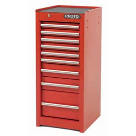"Proto J441535-9RD-SC 440SS Side Cabinet - 9 Drawer, Red, 15""L X 35""H X 18""D"