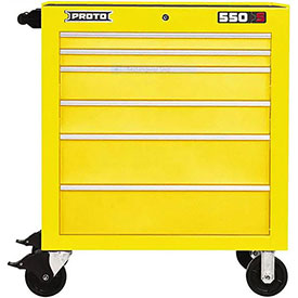 """Proto J453441-6YL 450HS 34"""" Roller Cabinet - 6 Drawer, Yellow, 34""""L X 41""""H X 25""""D"""