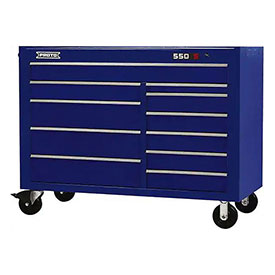 "Proto J455743-11BL 450HS 57"" Workstation - 11 Drawer, Blue, 57""L X 43""H X 25""D"