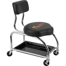 Proto® Heavy Duty Trolley Stool - Steel - Vinyl - Black