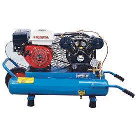 Puma PUK-5508G, Single Stage Gas Powered Air Compressor, 8 Gallon, 5.5 HP, Twin Horizontal, Portable by