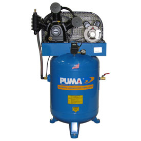 Puma TE-3040V, Two Stage Belt Drive Air Compressor, 40 Gallon, 3 HP, Vertical by