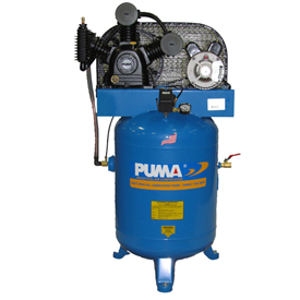 Puma TE-5040V, Two Stage Belt Drive Air Compressor, 40 Gallon, 5 HP, Vertical by