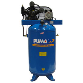 Puma TE-5080V, Two Stage Belt Drive Air Compressor, 80 Gallon, 5 HP, Vertical by