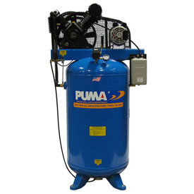 Puma TN-6580VM, Two Stage Belt Drive Air Compressor, 80 Gallon, 6.5 HP, Vertical by