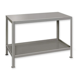 "Heavy Duty Machine Table w/ 2 Shelves - 36""W x 18""D Gray"
