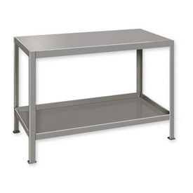"Heavy Duty Machine Table w/ 2 Shelves - 48""W x 24""D Gray"