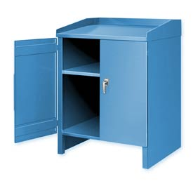 3 Shelf Cabinet Shop Desk Blue
