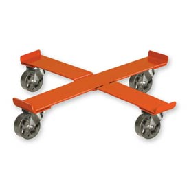 """Pucel™ 75 Cross Drum Dolly with Steel Casters - 24-1/2"""" Orange"""