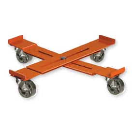 Pucel™ AD-15 Adjustable Drum Dolly Steel Casters - 14-1/4 to 19-1/4