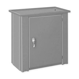 "Drain Top Repair Bench w/ Cabinet - 28""W x 20""D x 30""H Gray"
