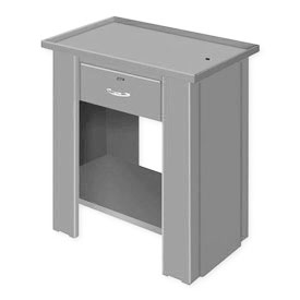 "Liquid Assembly Repair Bench w/ Drawer - 36""W x 20""D x 30""H Gray"