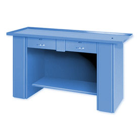 "Liquid Assembly Repair Bench w/ 2 Drawers - 60""W x 22""D x 32""H Blue"
