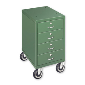 "4 Drawer Cabinet with 5"" Casters - Gray"