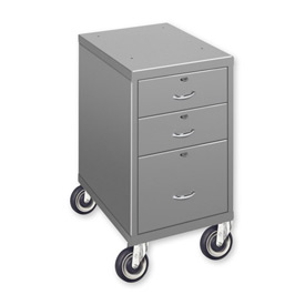 "3 Drawer Cabinet with 3"" Casters - Black"