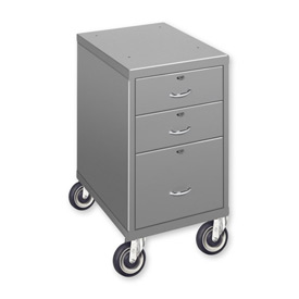 "3 Drawer Cabinet with 5"" Casters - Gray"