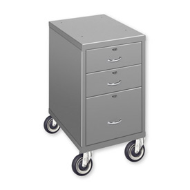 "3 Drawer Cabinet with 5"" Casters - Blue"