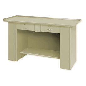 Drop Front Top Bench - 2 Drawers Putty