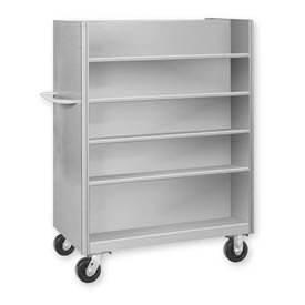 Pucel™ DV-2242 Double-Sided Steel Shelf Truck 2000 Lb. Capacity