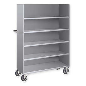 Pucel™ EST-44 Single-Sided Steel Shelf Truck 1000 Lb. Capacity