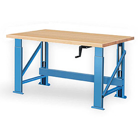 Perfect DIY Adjustable Height Woodworking Bench Plans Free