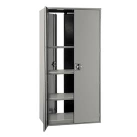 "Double Sided Door Storage Cabinet - 48""W x 19""D x 72""H Gray"