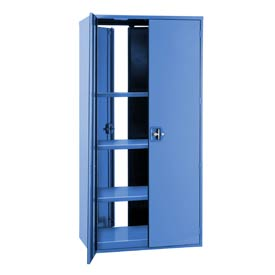"""Double Sided Door Storage Cabinet - 48""""W x 19""""D x 72""""H Blue"""