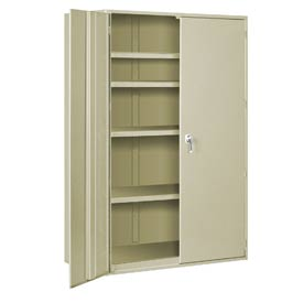 "Extra Heavy Duty Storage Cabinet - 48""W x 24""D x 72""H Putty"