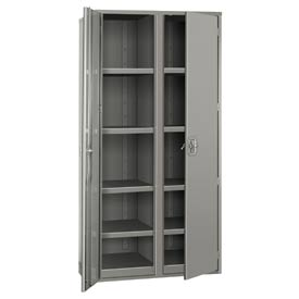 """Partitioned Storage Cabinet - 48""""W x 24""""D x 72""""H Gray"""