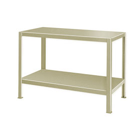 "Extra Heavy Duty Work Table w/ 2 Shelves - 60""W x 34""D Putty"