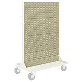 "Pucel Louvered Panel 36"" x 61"" for Portable Bin Cart Putty"
